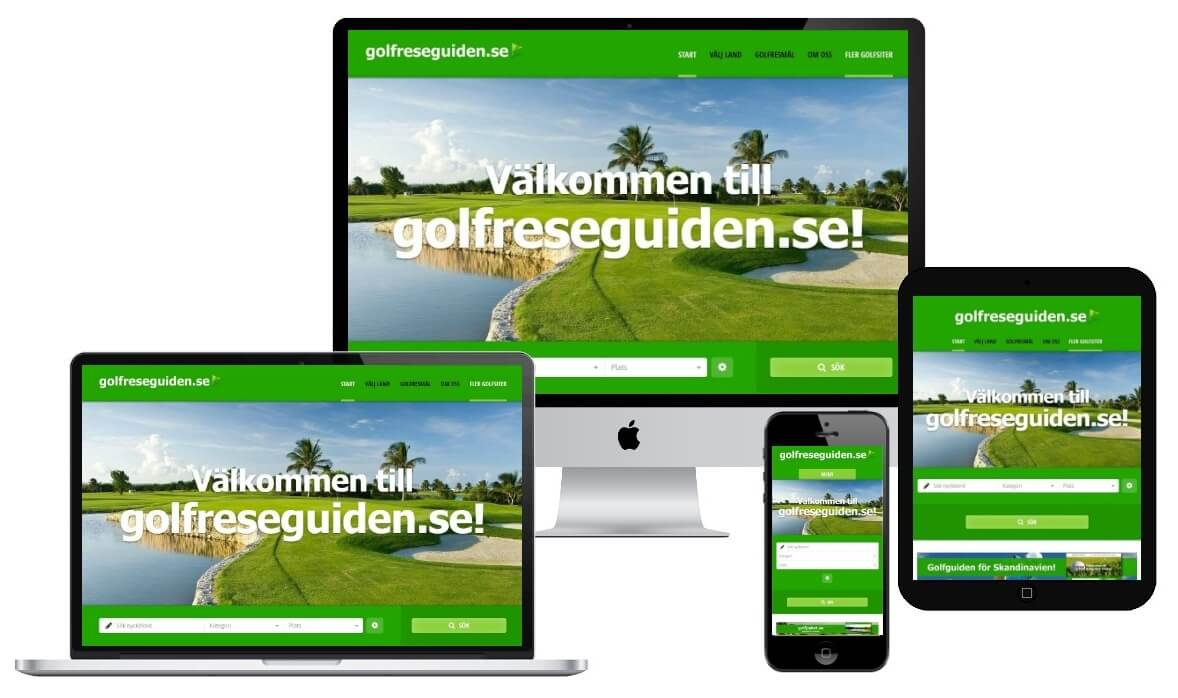 Golfreseguiden.se -Auto responsive